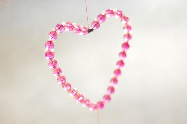 bead & sequin heart