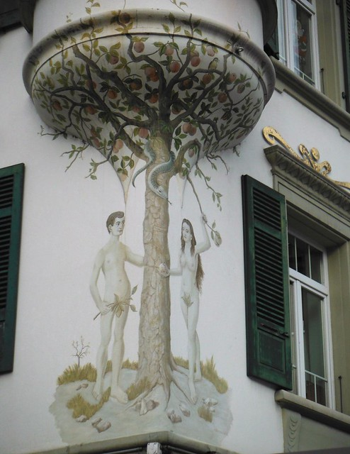 Gorgeous art nouveau adam eve decoration interlaken for Art nouveau decoration