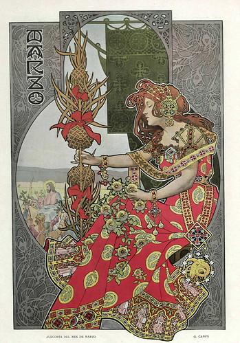 003-Alegoria del mes de Marzo- Gaspar Camps-Revista Álbum Salón-Enero de 1901 -Hemeroteca de la Biblioteca Nacional de España