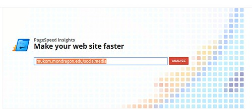 PageSpeed Insights analysis
