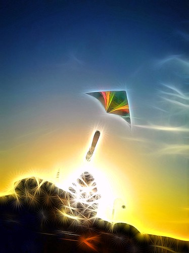 Kite Dreaming by littleredplanet