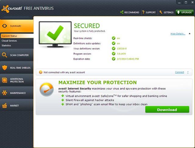Avast, antivirus, sicurezza