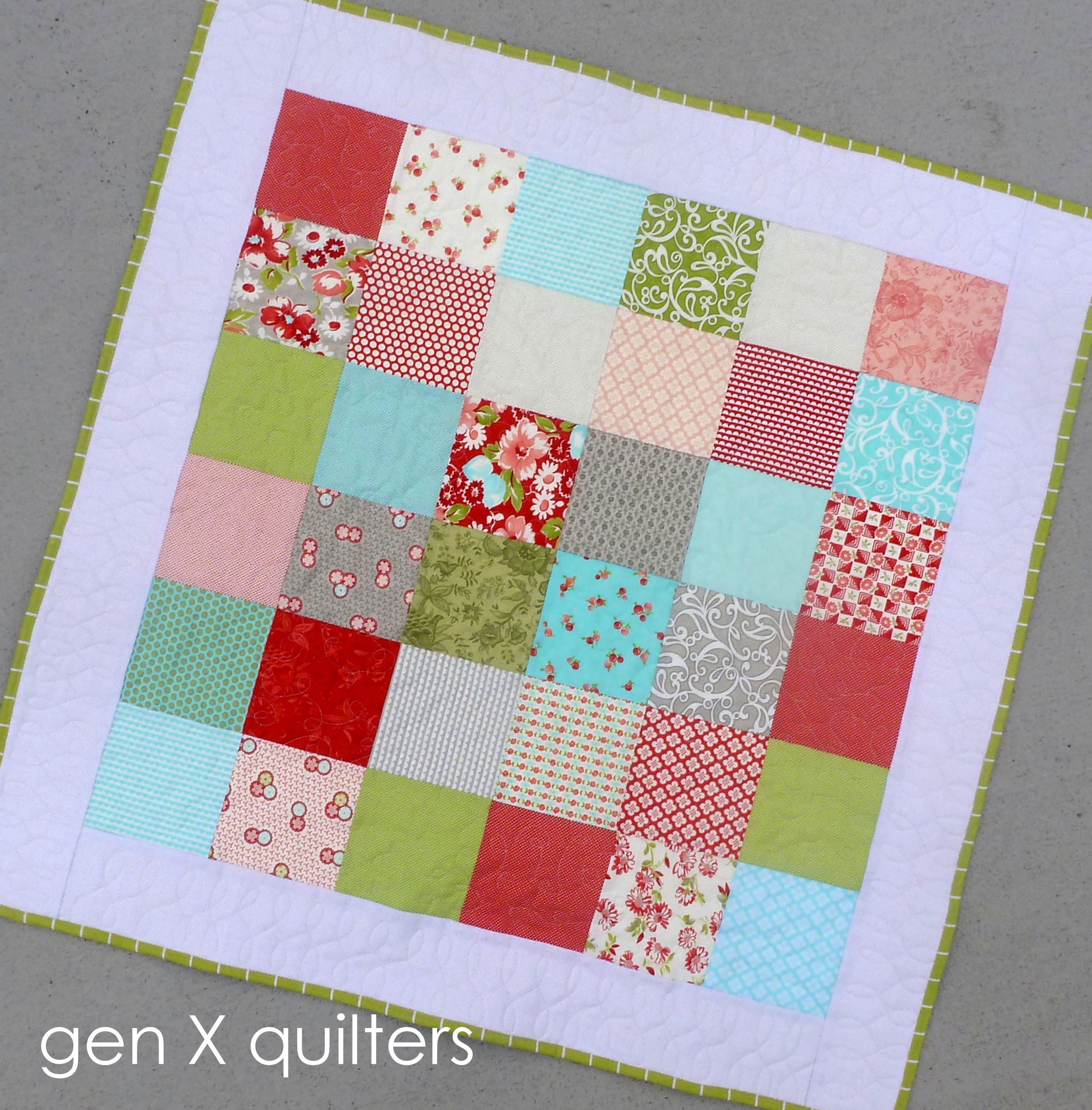 Quilting Patterns Basic : GenXQuilters: Modern Traditional Quilting, Block of the Month Sampler Quilt Patterns AnneMarie ...