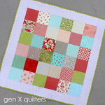 simple patchwork baby quilt