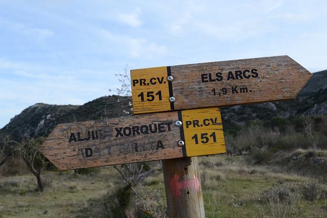 011 - Señalización Ruta Els Arcs PR CV 151