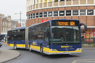 Norwich bus station closure - buses on diversion (c) David Bell