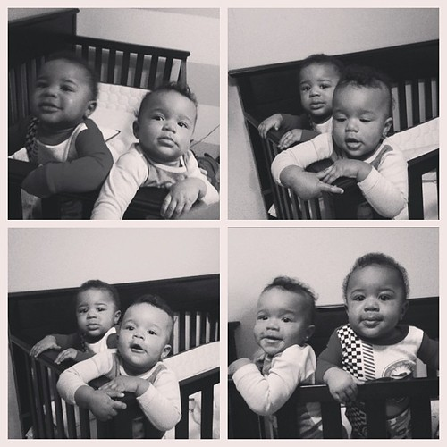 Hoping these are the last shots of the twins on this janky phone. I've wore this 4 into the ground and its time to part ways!!!  I will say that I was challenged in taking photos with this phone and I mastered taking photos with the front-facing camera! R