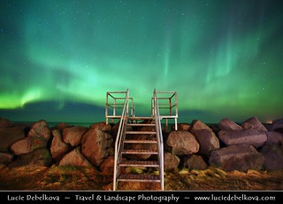 Iceland - Reykjanes peninsula - Keflavik - Stairway to Heaven & Aurora - Northern Lights