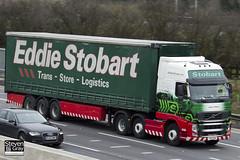 Volvo FH 6x2 Tractor - PX10 DHU - Jessica Marie - Eddie Stobart - M1 J10 Luton - Steven Gray - IMG_2221