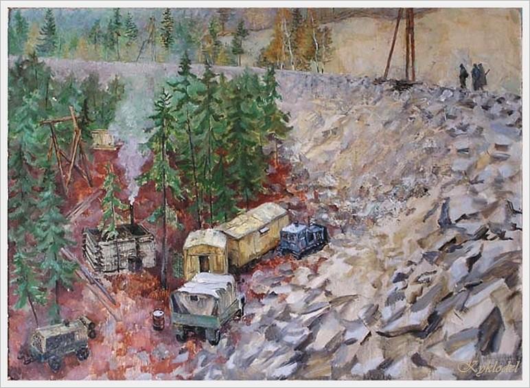 Ганелин Александр Лазаревич (Россия, Израиль, 1957) «БАМ. Осень»