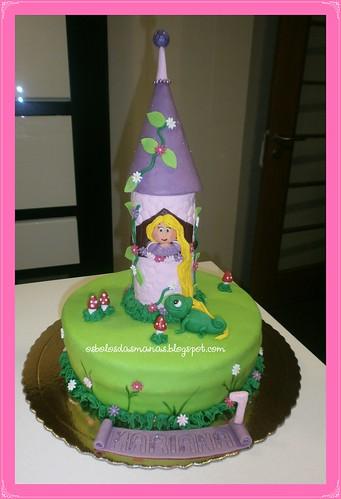 Bolo Torre Rapunzel 3 by Osbolosdasmanas