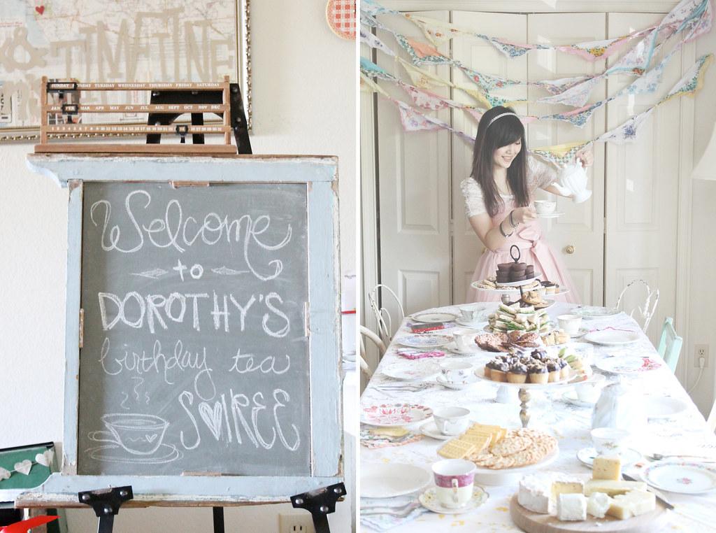 dorothy's birthday tea soiree