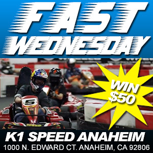 8508846382 3944988194 FAST WEDNESDAY   Fast Lap Contest at K1 Speed Anaheim