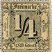 German state postage stamp: Thurn and Taxis 1/4