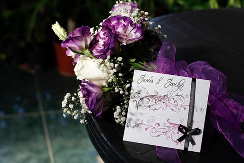 parte de matrimonio en violeta
