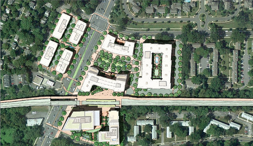 Site Plan, Chevy Chase Lake Development