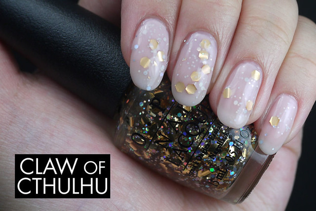 OPI When Monkeys Fly Jelly Sandwich Swatch (With OPI You Callin' Me A Lyre?)