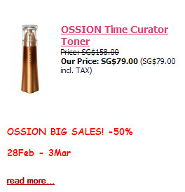 Ossion Time Curator Toner