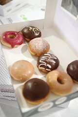 meal, doughnut, breakfast, baking, petit four, sweetness, baked goods, food, chocolate, cuisine, snack food, praline,