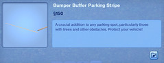 Bumper Buffer Parking Stripe