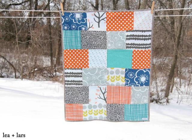 patchwork baby boy quilt
