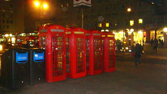 telephone boots, across Charing Cross by Julie70