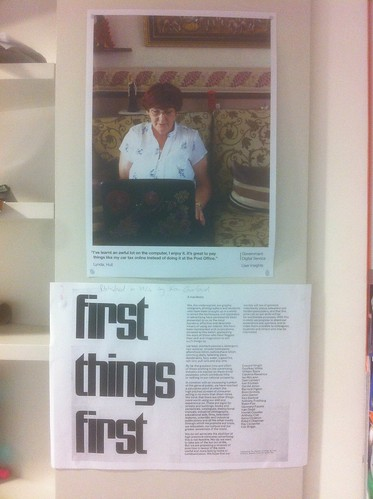 Stuck the First Things First manifesto up at work.