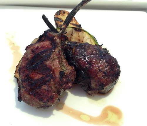 Scottadito - Grilled Australian Lamb Chop, Lemon-mint marinade, roasted potatoes