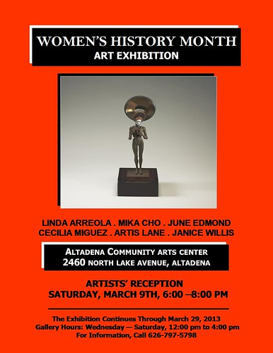 Altadena Community Arts Center Women's History Month Art Exhibition