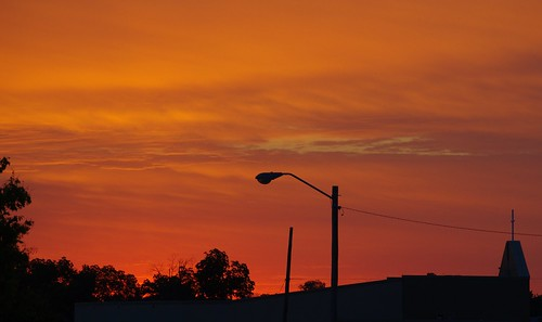 sky colors clouds sunrise warning skyscape downtown vanburen arkansas
