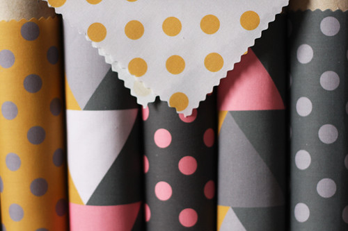 Triangles and polka dots!