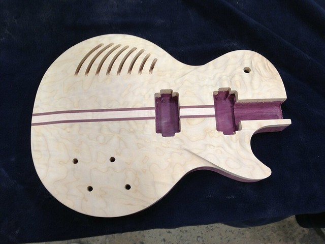 A Custom Guitar made using ShopBot by NextFab Member Ed Anderson