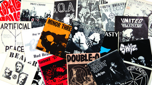 12 HARDCOREPUNK 7' records - ph Aaron Farley-crop