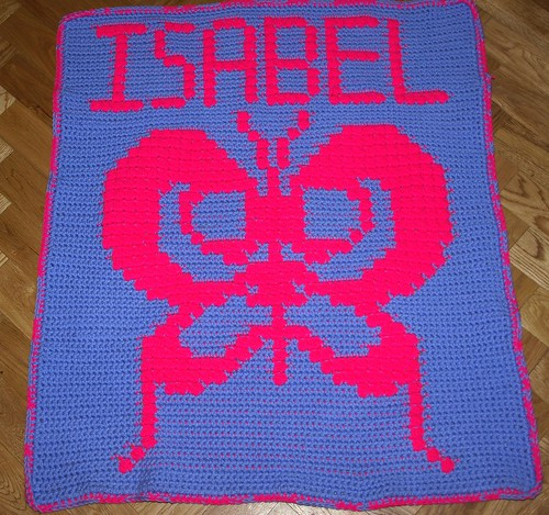 Butterfly Afghan for Isabel