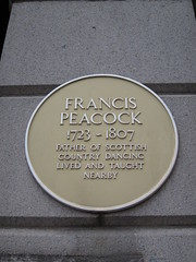 Photo of Francis Peacock yellow plaque