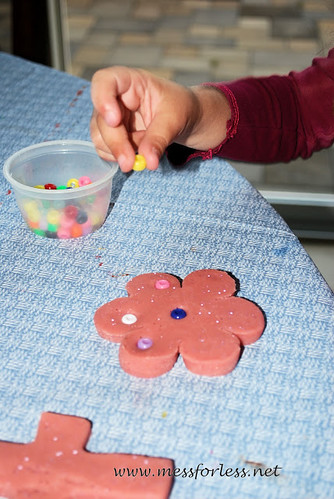 Play Dough and Beads (Photo from Mess for Less)