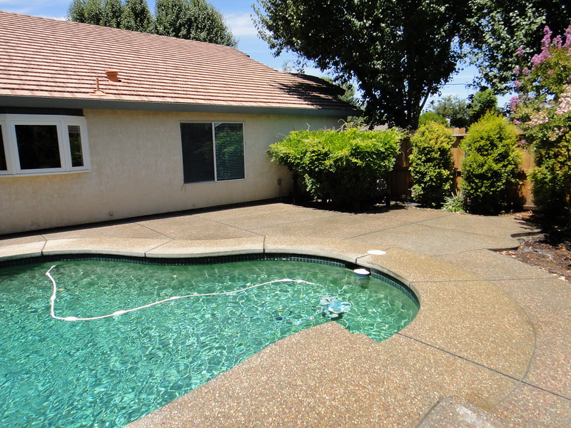 Exposed Aggregate Patio Added To Pool Deck
