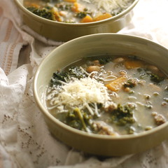 Butternut Squash & Kale Soup with Sage Sausage…