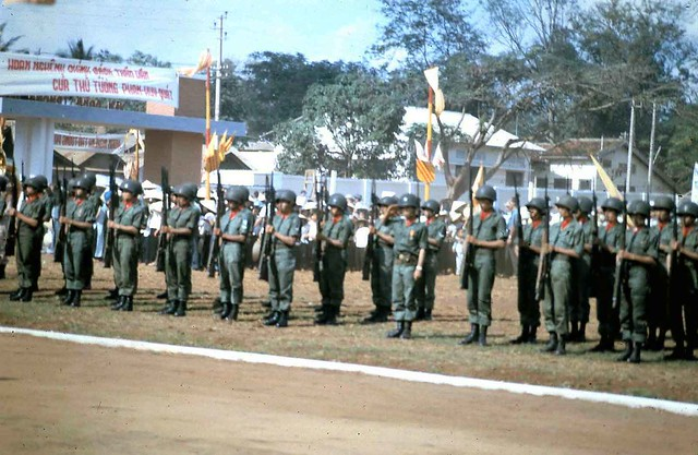 Qui Nhon - Honor guard for Premier Quat Visit, 21 Apr 65