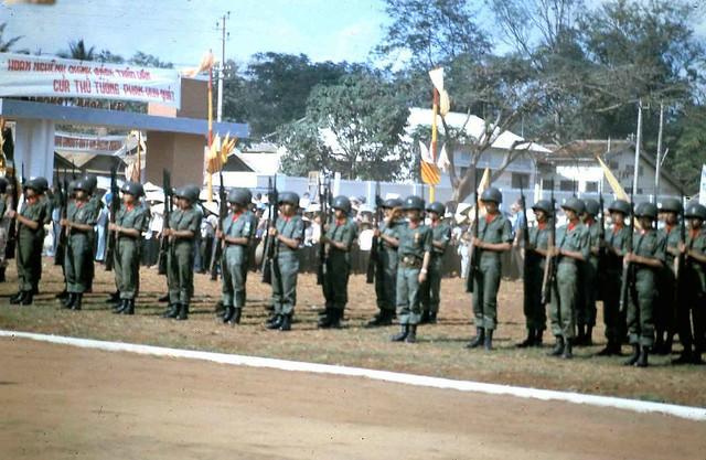 Qui Nhon - Honor guard for Premier Quat Visit, 21 Apr 65