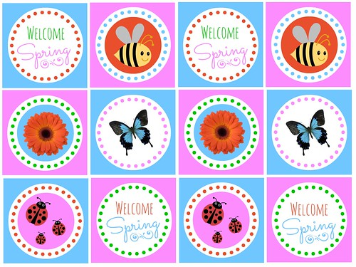 Spring Cupcake Toppers printable by Love Bakes Good Cakes