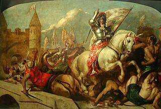 Cuadro de Juana de Arco en la Batalla de Orleans