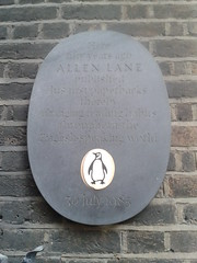 Photo of Allen Lane black plaque
