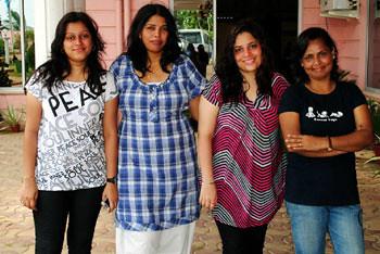 Ketaki, Aruna, Karishma & Carol