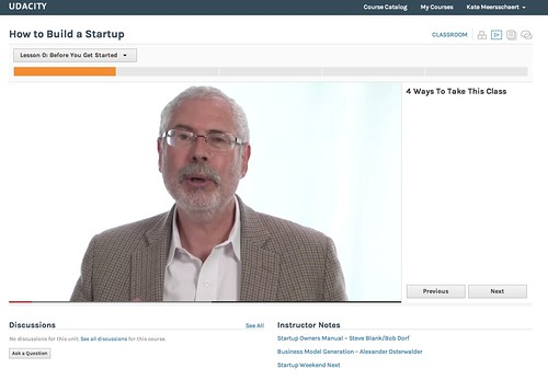 Udacity Course: Lean Startups with Steve Blank - Kate