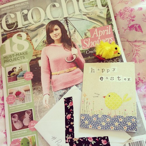Awesome post yesterday, including the gorgeous new issue of @insidecrochet and lovely #postcircle post :)