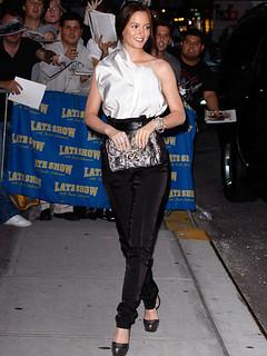 Leighton Meester Monochrome Trend Celebrity Style Women's Fashion