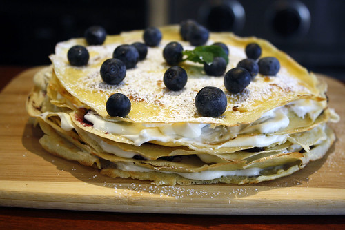... Date Dish – Crepes with Blueberry and Lemon Ricotta Cream – 2 Ways