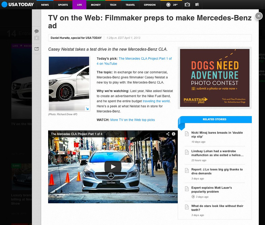 TV on the Web: Casey Neistat's new Mercedes