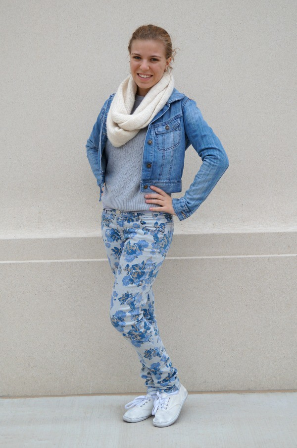 Style That Moves-Floral Jeans and Sweaters